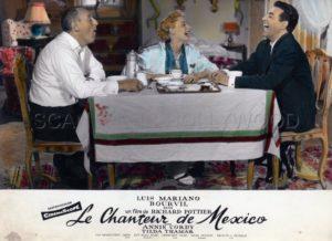 """Bourvil, Annie Cordy et Luis Mariano dans """"Le Chanteur de Mexico"""""""